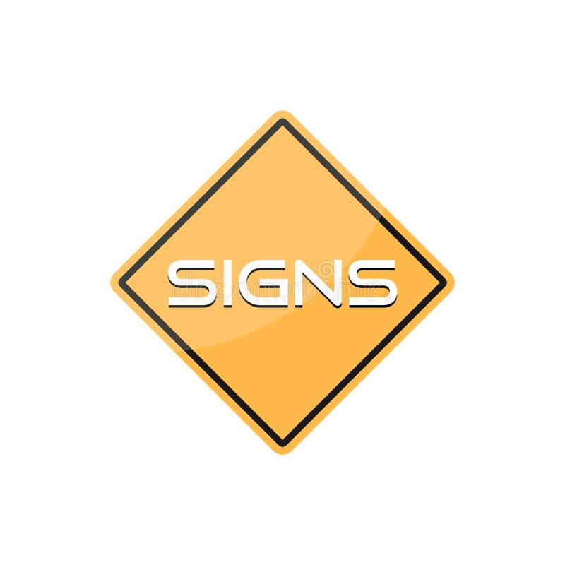 Road Sign with word Signs vector illustration
