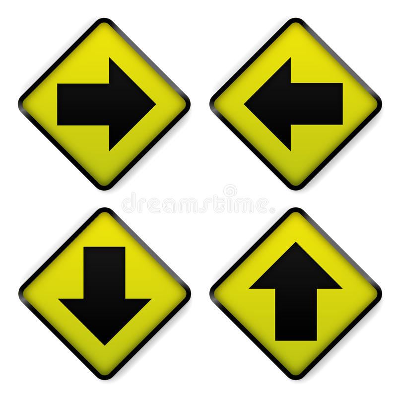 road sign yellow royalty free illustration
