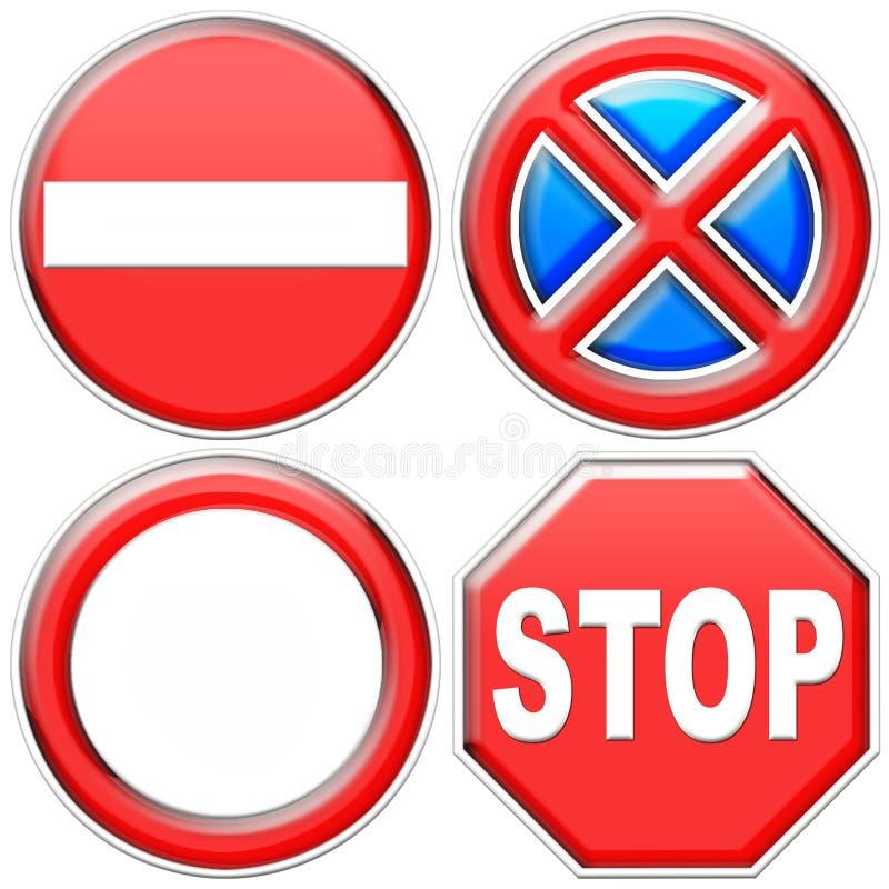 Download Road Signals stock illustration. Image of symbol, blue - 9138614