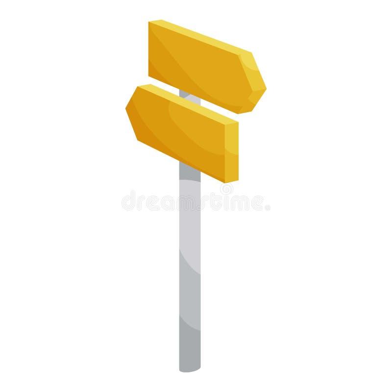 Road signpost icon, cartoon style. Road signpost icon. Cartoon illustration of road signpost icon for web stock illustration