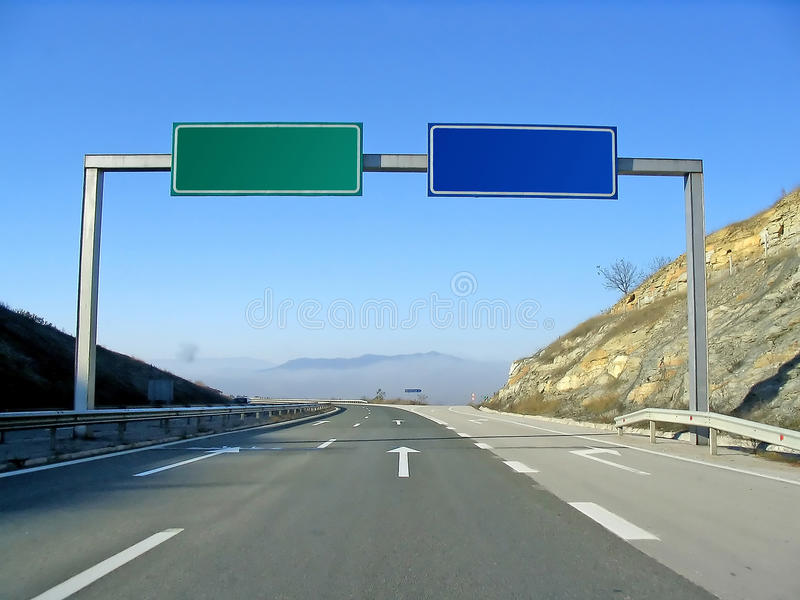 Download Road With Signs Stock Photography - Image: 12747752
