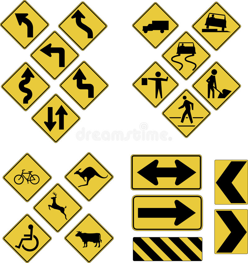 Road signs royalty free illustration