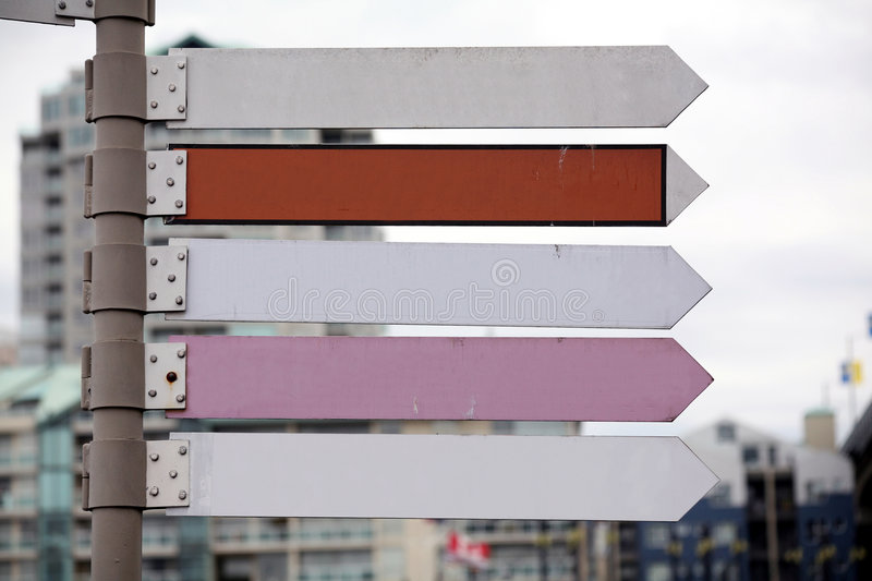 Download Road signs stock image. Image of indicate, directing, blank - 2317123