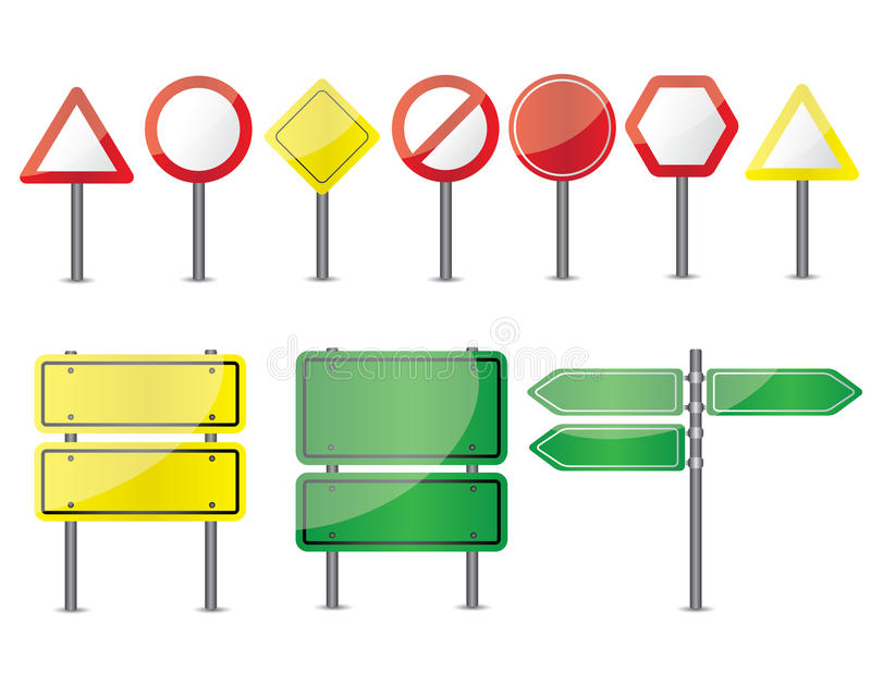 Road signs illustration stock illustration