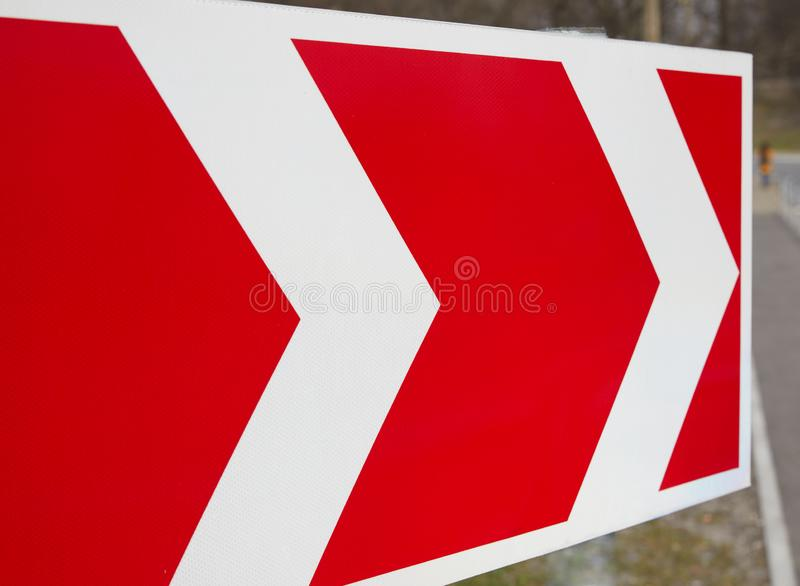 Road signs showing the direction of movement vector illustration