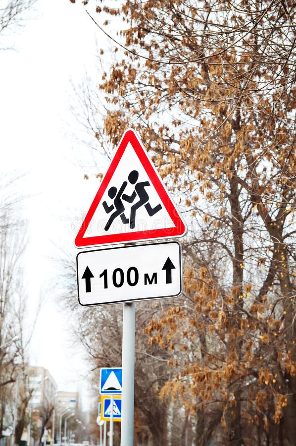 Road signs on the street royalty free stock images
