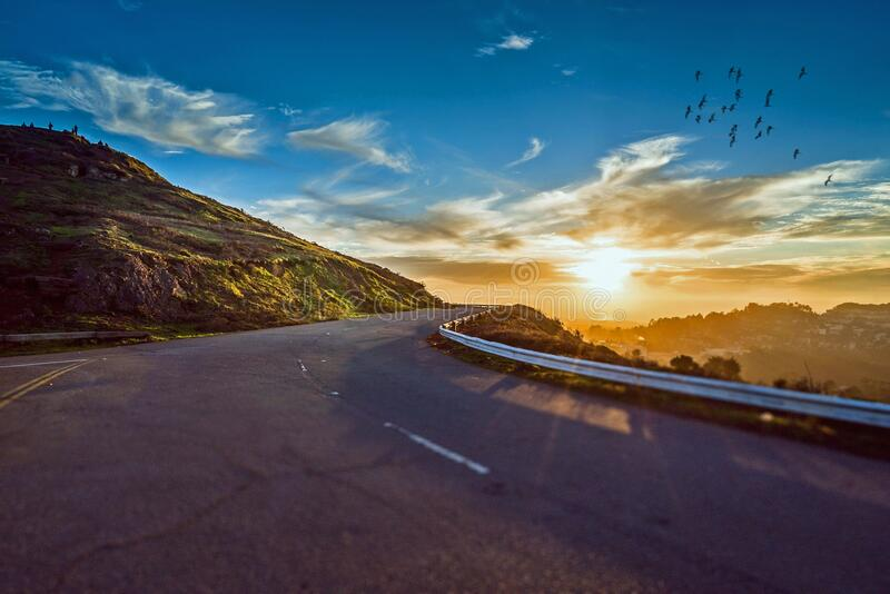 Road, Sky, Cloud, Nature royalty free stock photography