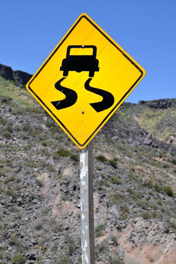 road slippery στοκ εικόνα με δικαίωμα ελεύθερης χρήσης