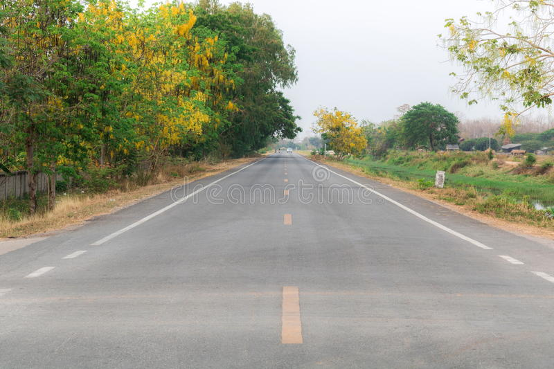 Road in small village royalty free stock photo