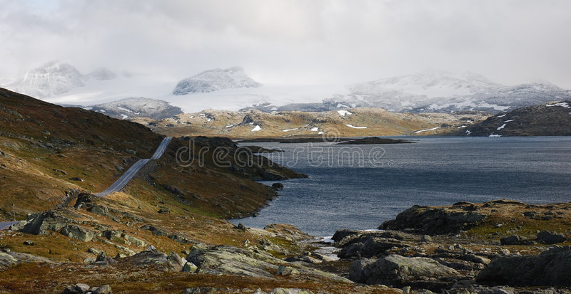 Road Sognefjell, Norway stock image