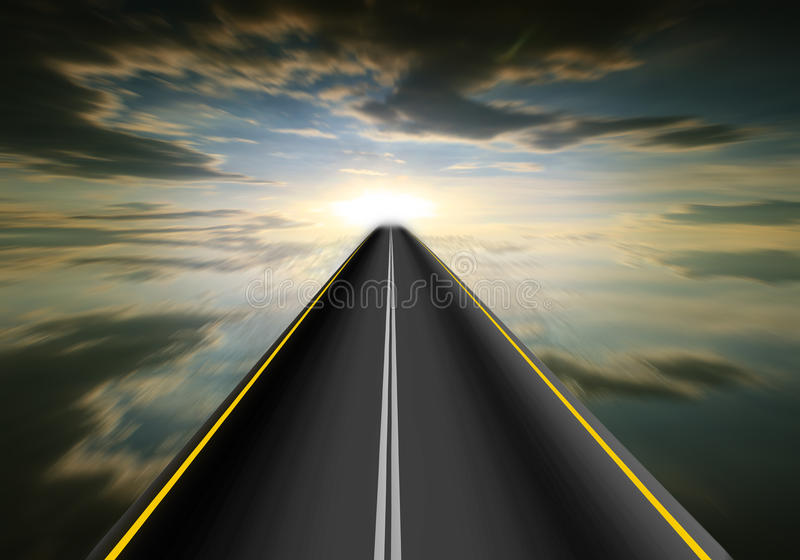Download Road speed. stock photo. Image of asphalt, clouds, fast - 22065238