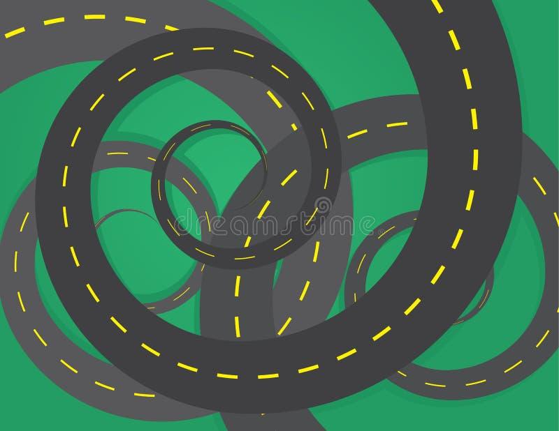 Download Road Spirals stock vector. Image of decide, adventure - 31334116