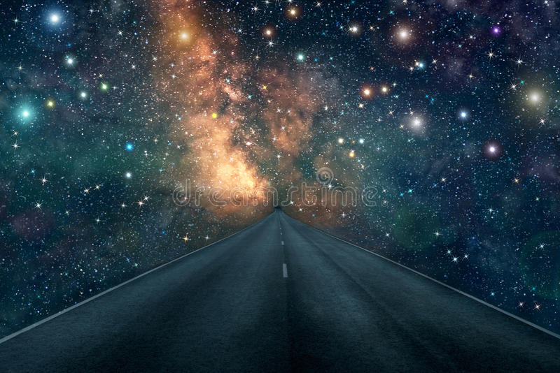 Road star nebula milky way background stock image image - Space wallpaper road ...