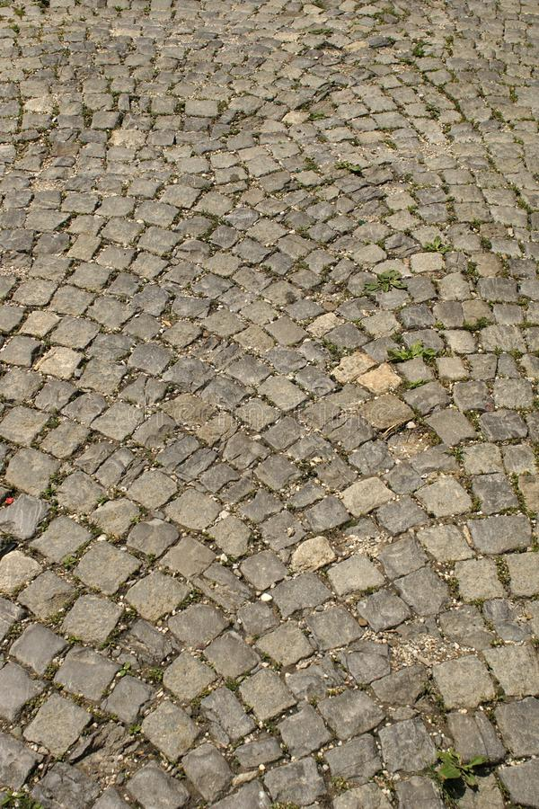 Road of stones.Block construction royalty free stock images