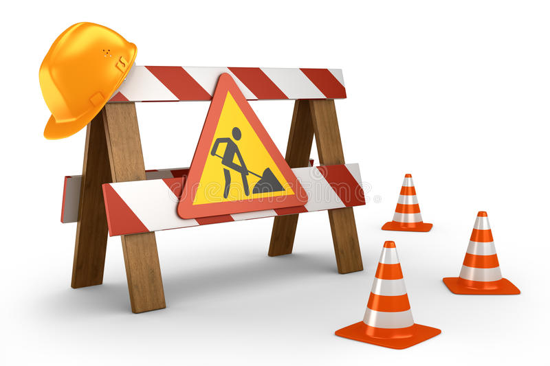 Download Road stop barrier stock illustration. Image of object - 33269060