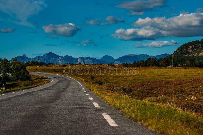 Road  in  Straumnes, Lofoten Islands, Norway. Road in Straumnes, Lofoten Islands, Norway royalty free stock image