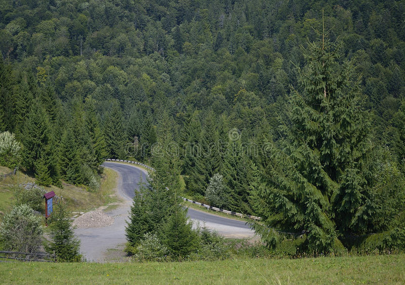 Download Road Streamer At Mountain Royalty Free Stock Photos - Image: 26989338