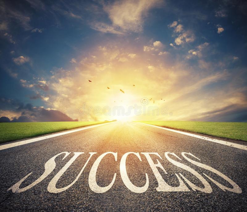 Road of the success. The way for new business opportunities royalty free stock photography
