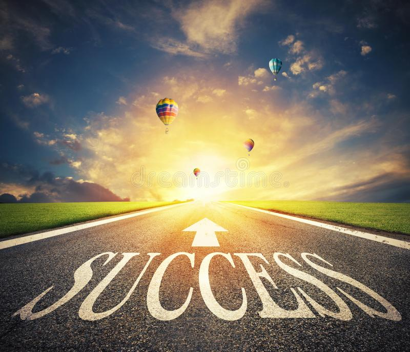 Road of the success. The way for new business opportunities royalty free stock photo