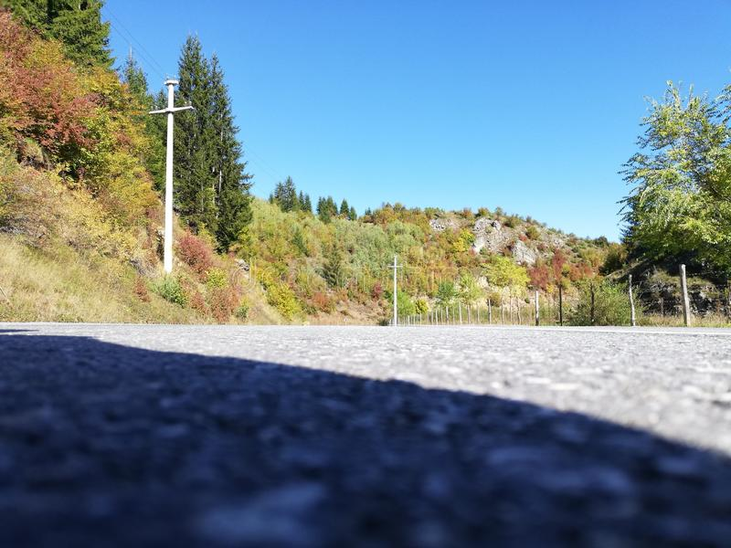 Road in sun stock image
