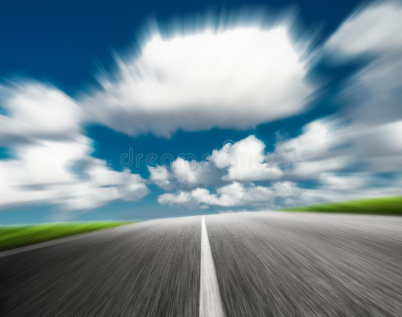Road on a sunny summer day royalty free stock photos