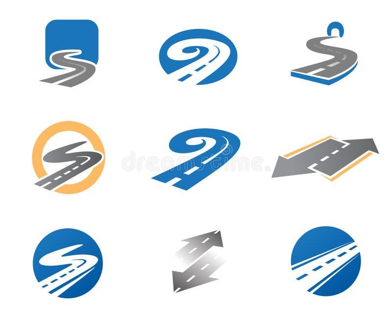 Road symbols. Road. Abstract element set of logo templates