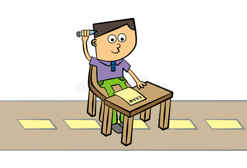 Download Road test stock illustration. Image of character, exam - 26881927