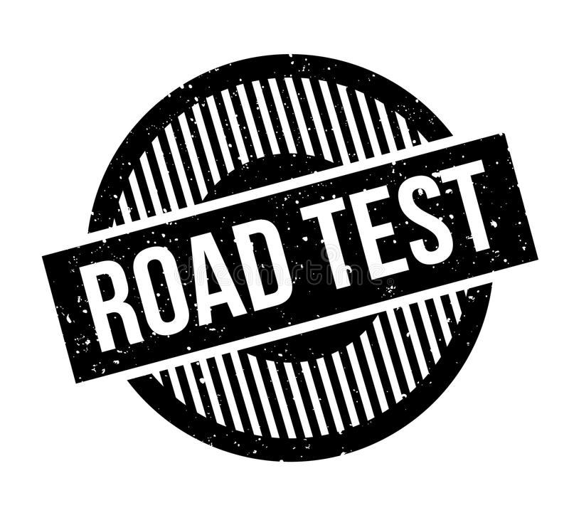 Road Test rubber stamp royalty free illustration