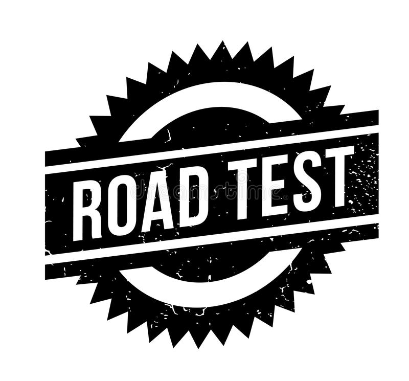 Road Test rubber stamp stock illustration