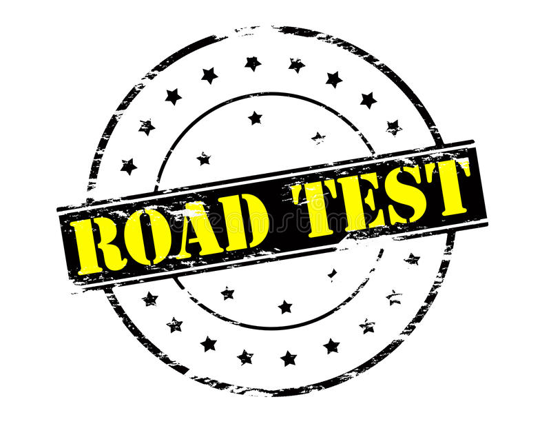 Road test royalty free illustration