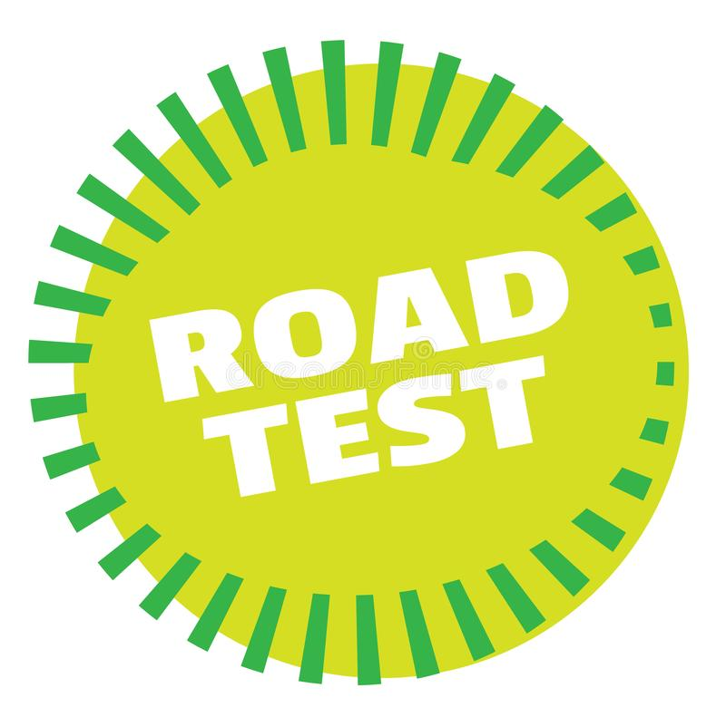 ROAD TEST stamp on white royalty free illustration