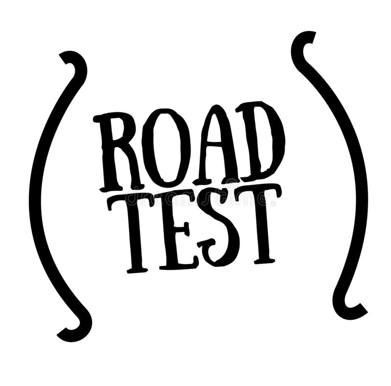 ROAD TEST stamp on white stock illustration