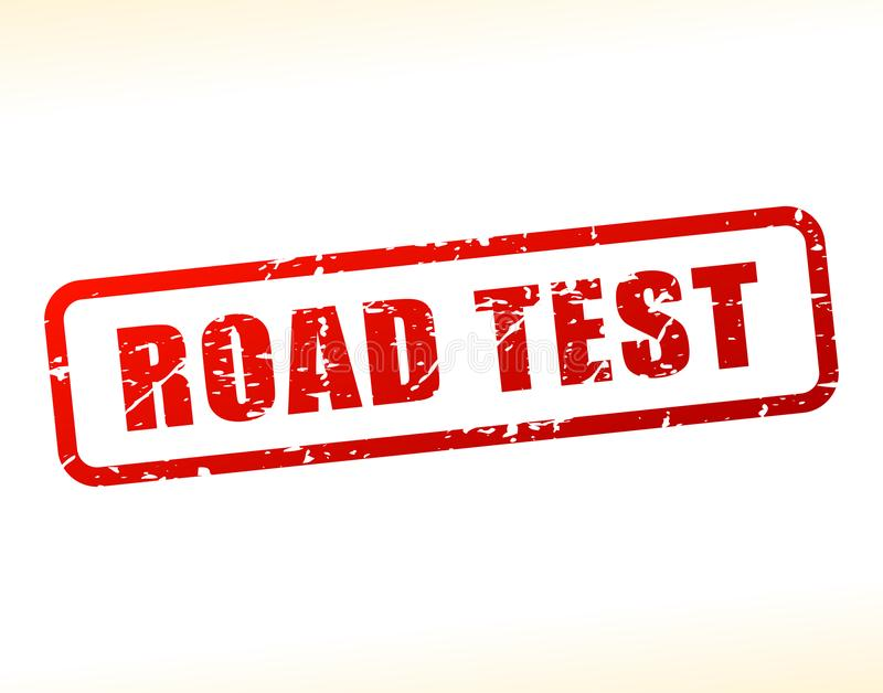 Road test text buffered royalty free illustration