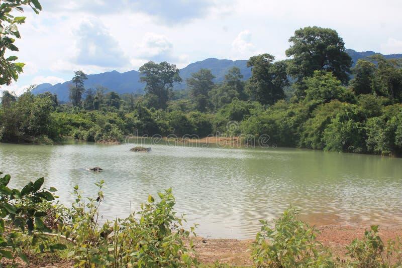 On the road, Thakkek Laos stock photo