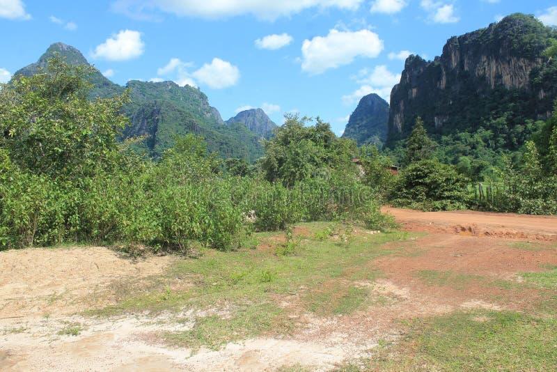 On the road, Thakkek Laos stock photos