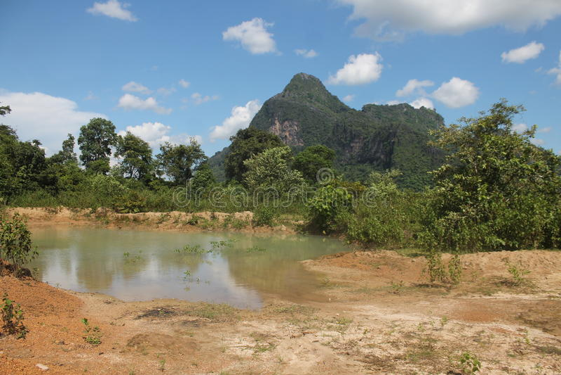 On the road, Thakkek Laos stock image