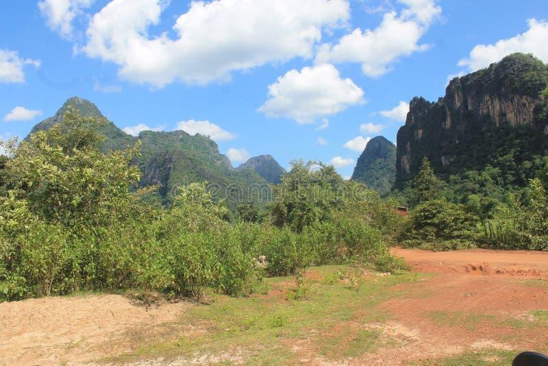 On the road, Thakkek Laos royalty free stock photo