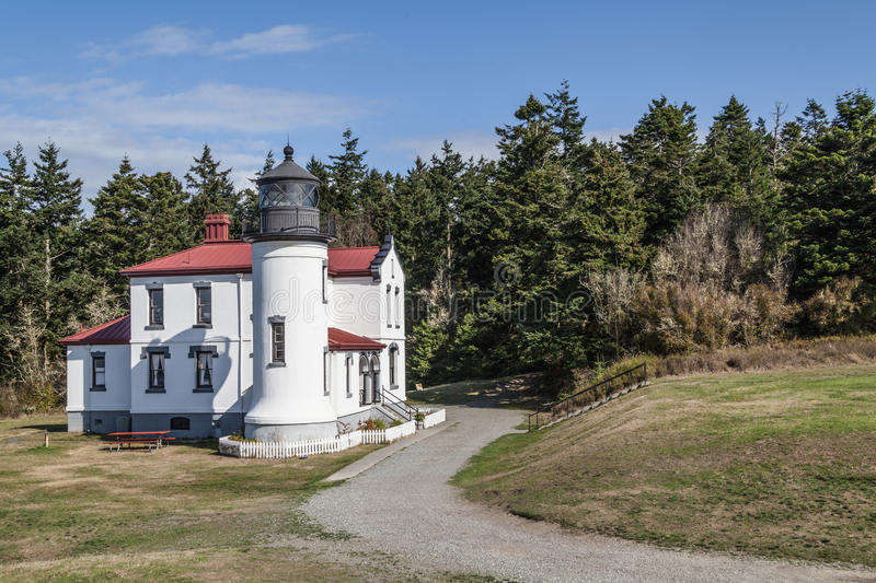 Road to Almiratly Head Lighthouse royalty free stock photos