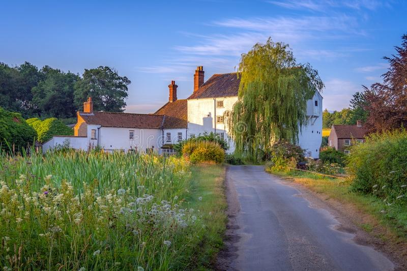 Road to Bintree Mill at Sunrise stock image