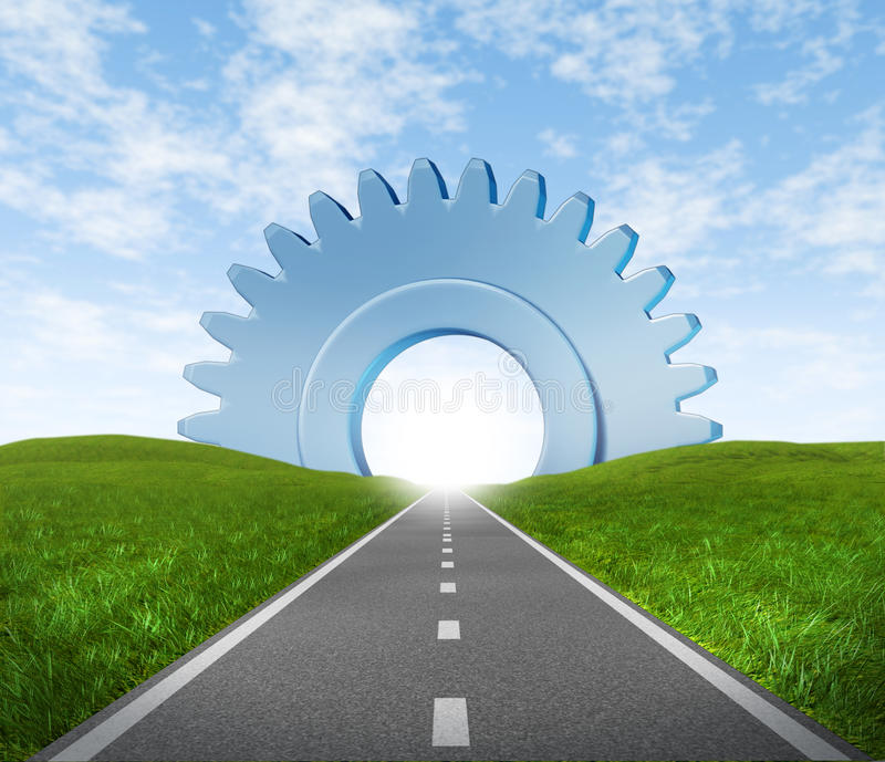 Road to business success royalty free stock photos