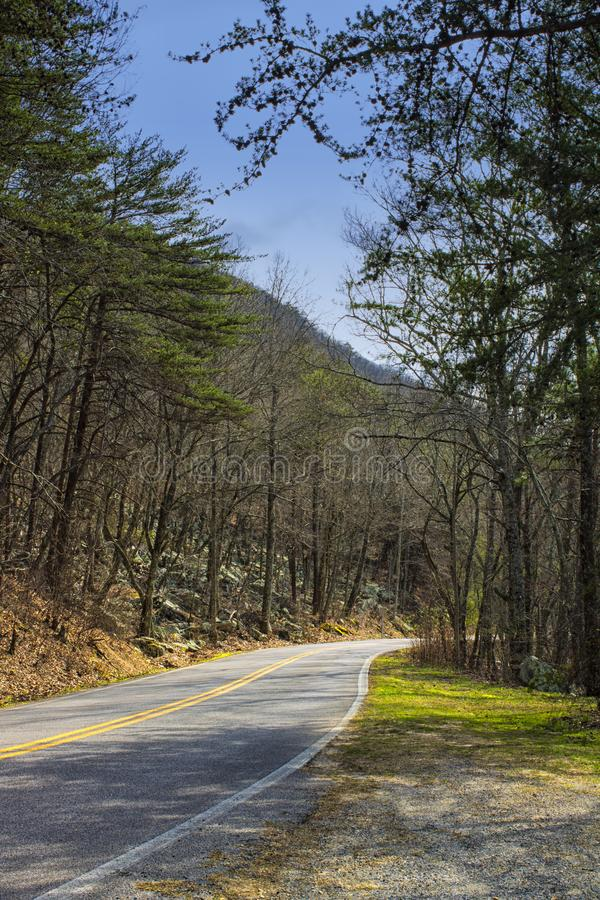 The Road to Cheaha State Park in Alabama stock photo
