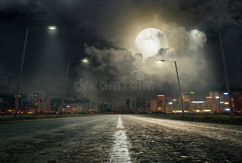 The road to the city 2 royalty free stock photo