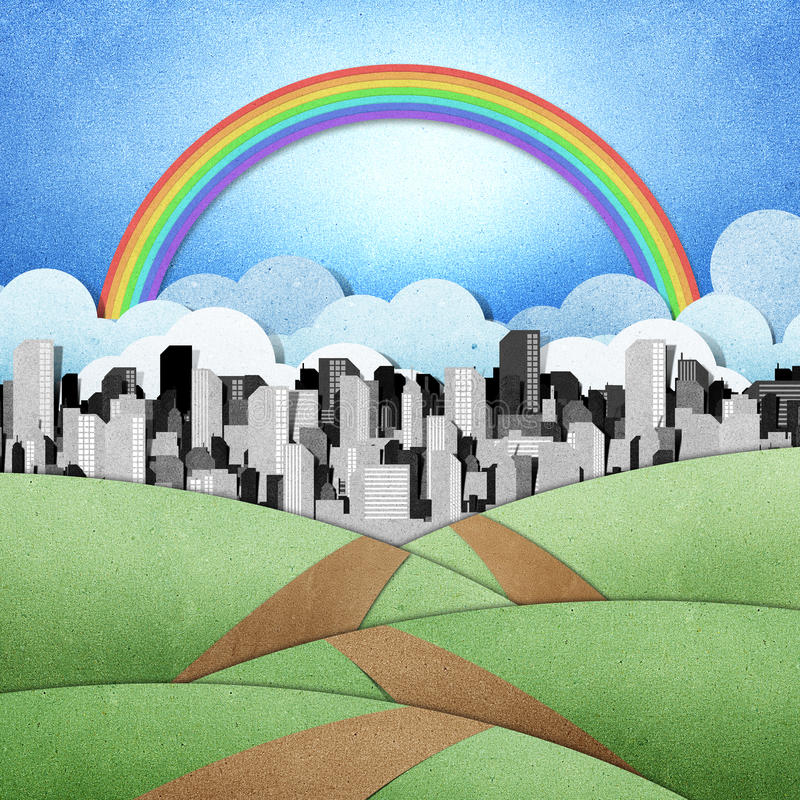 Download Road To The City Recycled Papercraft Background Stock Photo - Image: 22357574