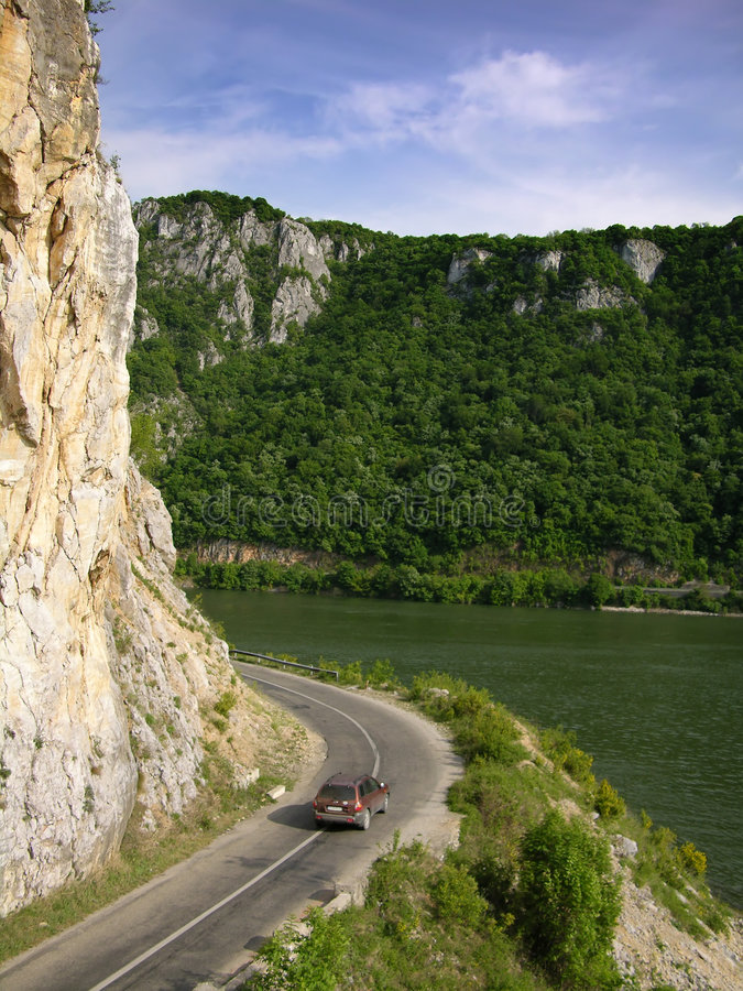 Road to Danube stock image