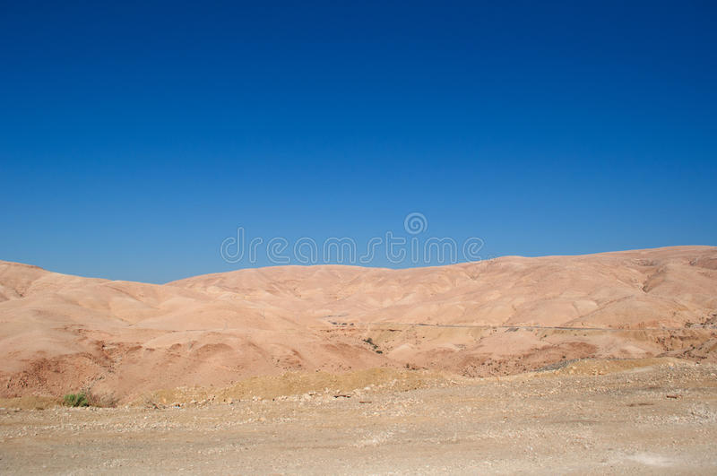 Dead Sea, road, Jordan, Middle East, desert, landscape, nature, climate change. Jordan 05/10/2013: view of the Jordanian and rocky landscape on the road to the royalty free stock image