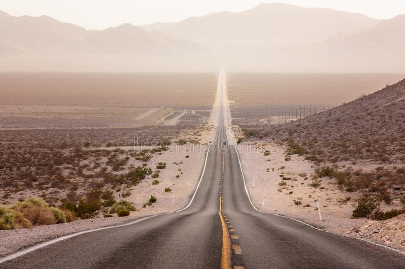 Nevada Road to Death Vally stock photography