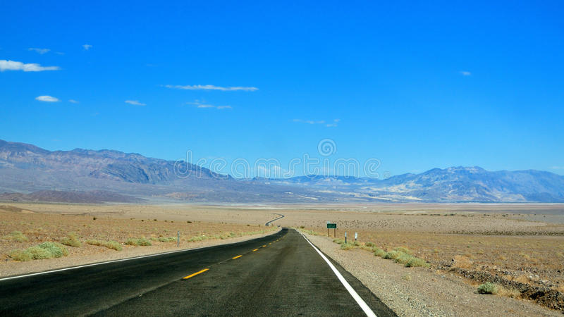 Road to Death Valley, Nevada. Road in the desert of Death Valley, California and Nevada stock photos