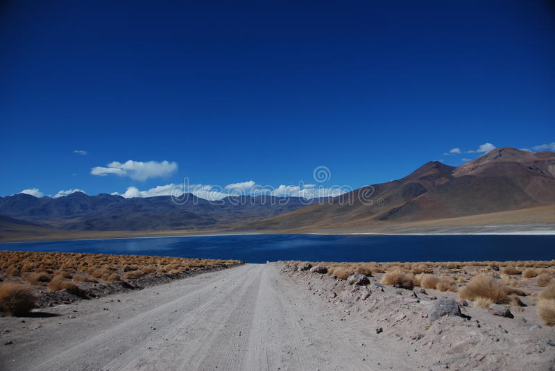 The road to deseret lake royalty free stock image