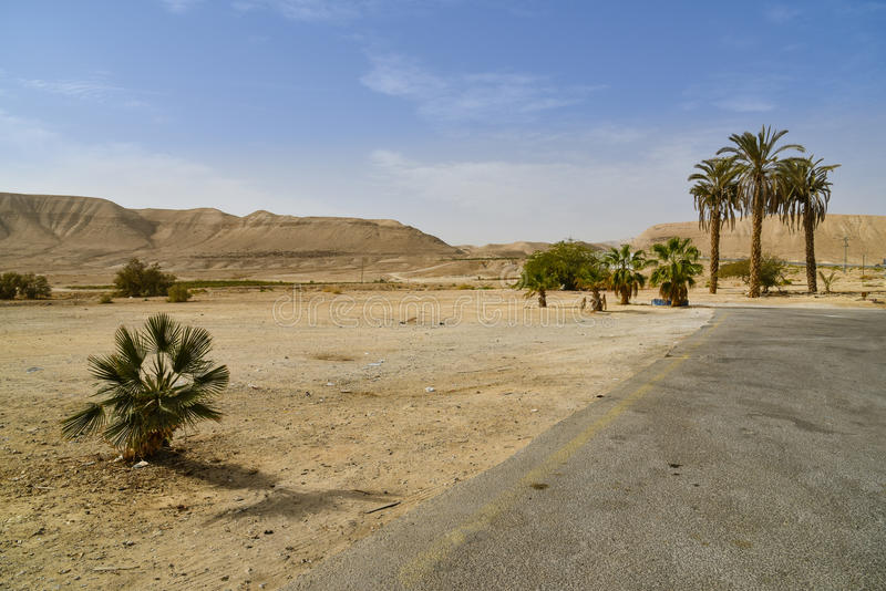 Road to the desert, Israel stock image