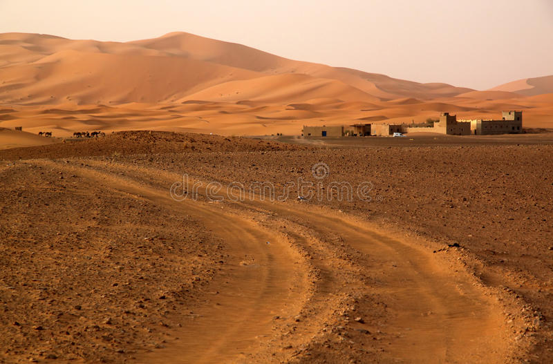 Download Road to the Dunes stock photo. Image of distant, moroccan - 24341218